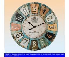 OutB Chateau - Reloj de pared tamaño XXL (madera, diámetro 60 cm)