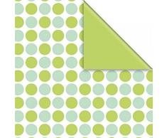 Papel de regalo Rollo 50cm x 250Meter, Fabricio verde, 2 Lados