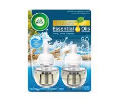 Air Wick Ambientador Eléctrico Recambio Duplo Oasis Turquesa, 2 x 19 ml - Total: 38 ml