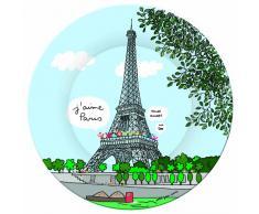 Paris SB920G - Platos de postre, diseño de la Torre Eiffel