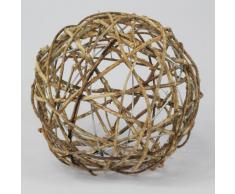 Bola decorativa de ratán, bola para jardín, 20 cm