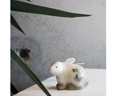Deko Vela Pascua Easter I blanco gris Vela Figure