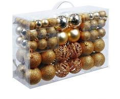 Unbekannt Christmas Gifts – Bolas de Navidad, plástico, plástico, Dorado, 100x