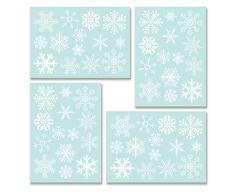 Tuopuda 56pcs Ventana del Copo de Nieve Brillando de la Decoración de la Ventana de la Navidad se aferra Las Etiquetas Engomadas de Cristal, Pegatinas Navidad Ventana