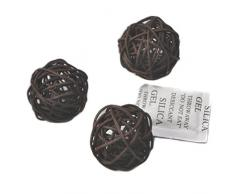 10 piezas Bolas de ratán mimbre mesa boda fiesta Navidad decoración 4cm Marron oscuro