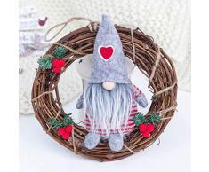 LIOOBO Guirnalda de Navidad Colgando Guirnalda de Anillo de Flores Artificiales Decorativas para Barras de Puerta de la Tienda de Navidad