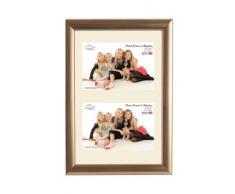 Inov8 - Marco de fotos (30,5 x 20,3 cm, con doble apertura para 2 fotos de 15,2 x 10,1 cm), color dorado