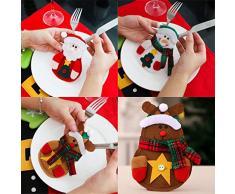 6pcs navidad bolsas para cuchillo y tenedor bolsa de Navidad decoración muñeco de nieve de Santa Claus Milu ciervos cubiertos vajilla vajilla Sets Holder Bolsillos Decoración de mesa decoración para el hogar de la cena Decor