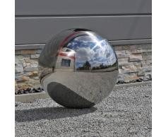 CLGarden 48cm Gran bola de acero inoxidable bola de acero inoxidable para jardín V2 A Acero Bola de Jardín Decorativa Bola