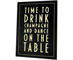 "Sumbox - Póster para bodas, diseño con texto ""Time to Drink Champagne and Dance On the Table"""