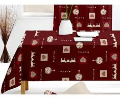 Mantel rectangular MERIBEL rojo