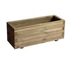 Garbric - Jardinera rectangular 50x100x40 madera tratada