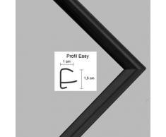 Easy Marco de plástico Para cuadros y pósteres 21x26 cm 26x21 cm Color selecionado: negro apagado Con vidrio acrílico