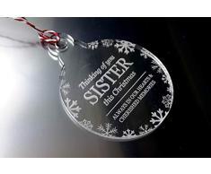 ORIGIN Thinking of You Sister - Árbol de Navidad, Bola, decoración