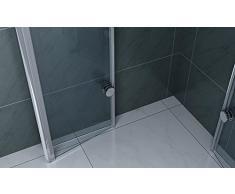 Cabina de ducha Cristal Plegable ducha 950 X 950 ducha baño muebles Mampara Puerta plegable 6 mm cristal de seguridad esquina ducha