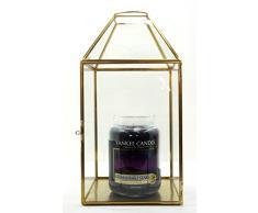 Yankee Candle - Portavelas de Cristal Transparente metálico de Gran tamaño para celebración, Accesorio de decoración - Vela no incluida