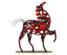 TOOARTS - Escultura Metálica Hecha a Mano - CABALLO - Aparatos de Hierro Decorativo para la Decoración del Hogar (Obra de Artesanía)