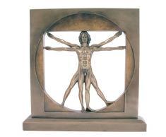 Escultura - el hombre Vitruvio de Da Vinci Bronce