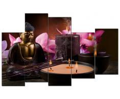 DekoArte - Cuadro moderno en lienzo Buda zen 150 x 100 cm