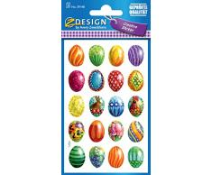 Avery 39148 Etiqueta Pascua, huevos de Pascua, material de papel, 3 hojas, 60 Etiqueta