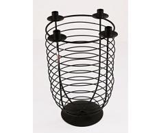 Candelabro de Adviento con forma de vela con soporte de madera con 4 soportes de las velas, con un diámetro de HX: 40 x 32 cm, colour marrón, de metal