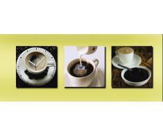 RELOJ DE PARED DISENO CAFE RELOJ DE LA COCINA 3 PIEZAS - CUARZO - RELAX - Tinas Collection