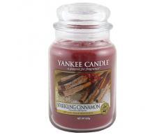 Yankee Candle Vela en un Vaso Doze, Espumoso de Canela, Rojo, Frasco grande