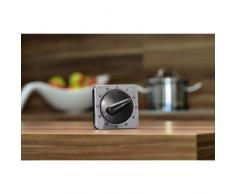 Xavax 00095303 Mechanical table clock Negro, Plata reloj de repisa o sobre mesa - relojes de mesa (Analógico)