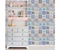Walplus 54x54 cm Adhesivos de Pared Mosaico Azulejo Estampados extraíble Autoadhesivo Arte Mural VINILO DECORACIÓN HOGAR BRICOLAJE Living Oficina Dormitorio Decor papel pintado habitación infantil