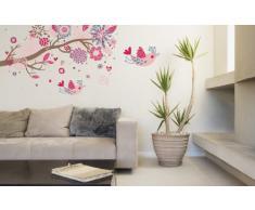Walplus AY909 Flower Ocean - Calcomanía de pared extraíble para habitación infantil (vinilo)