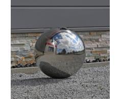 38 cm Bola de acero inoxidable bola de acero inoxidable 38 V2 A Acero Jardín Jardín bola decorativa