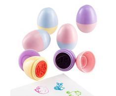 Prextex Sellos de Huevos de Pascua para la Caza de Huevos de Pascua o una Fiesta de Pascua