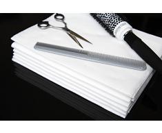 Toalla de belleza y cabello desechable de lujo Enki (blanco) 56 gsm, 40 cm x 80 cm (1 x paquete de 50 toallas)