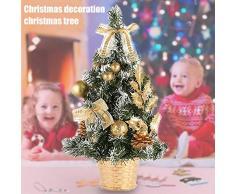 kangOnline Mini árbol de Navidad Artificial árbol de Navidad decoración de Fiesta de Abeto Adorno de Navidad para Decoraciones de Mesa de Escritorio para el hogar