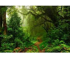 Fotomural Vinilo Pared Selva | Varias Medidas 200x150cm | Ideal para la decoración de comedores, Salones | Motivos Paisajisticos | Urbes, Naturaleza, Arte Diseño Elegante