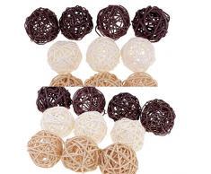 perfeclan Bolas Decorativas 20 Unids para Macetas De Mimbre Decoraciones De Mimbre De Bola Rota para Casarse Casa De Flor