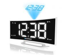 Blaupunkt CRP7WH radio con reloj LCD radio despertador proyector