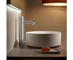 Roca Lanta - grifo monomando para lavabo con caño alto, cuerpo liso . Griferías hidrosanitarias Monomando. Ref. A5A3C11C00