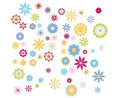 RoomMates - Pegatinas decorativas (reutilizables), diseño de flores