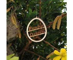 Árbol de Navidad Pascua Pascua de y adornos de Pascua - Decoración de madera para Pascua, Osterei Motiv 1