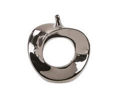 Florero Moderno Apple Hecho De Cerámica plata altura 26 cm ancho 23 cm