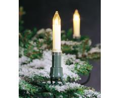 Konstsmide 1130-000 - Guirnalda para el árbol de navidad (velas de luz, 25 luces transparentes, 230 V, para exteriores)