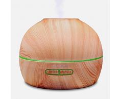 hysure Aroma difusor humidificador ultrasónico Madera Aroma aceite aromático Aroma nebulizador Pajona – Lámpara aromática eléctrica eléctrico (para bebé habitación de los Niños Dormitorio