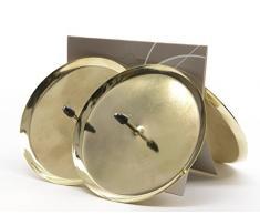 4 piezas de soporte de velas de Adviento, 8 cm, dorados, velas de corona de Adviento