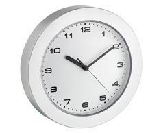 TFA 60.3022.54 - Reloj de pared electrónico, 228 mm, color plata