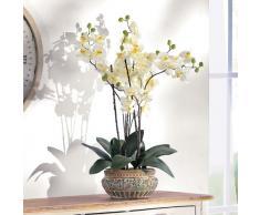 PureDay Orchidee - Orquídea artificial con macetero de cerámica, color marrón