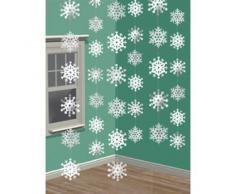decoración para colgar de los copos de nieve de Navidad