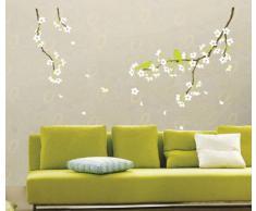 Ambiance-Live - Vinilo adhesivo decorativo para pared , Peral con flores