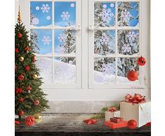 Sumind 126 Piezas de Copo de Nieve Pegatina de Ventana Decoraciones de Ventana de Navidad Invierno