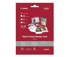 Canon PFC-101 Photo Frame - Papel fotográfico Calendar Pack (13 x 18 cm, 2 marcos de fotos + 2 sobres + 20 hojas)